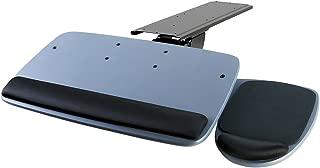 Mount-It! Under Desk Keyboard Tray, Adjustable Keyboard and Mouse Drawer Platform with Ergonomic Wrist Rest Pad, 17.25