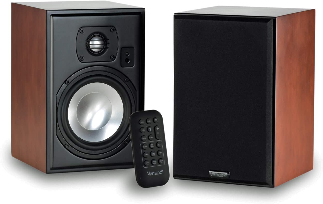 Vanatoo Transparent Free Shipping Cheap Bargain Gift One Encore Powered Max 82% OFF Speakers of Set Cherry