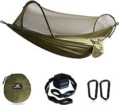 56 en * 107 en Capacit/é de 272,2 kilogram avec timon et corde cour double portable en nylon Parachute multifonctionnel l/éger Camping Sac de couchage Hamac Voyage plage