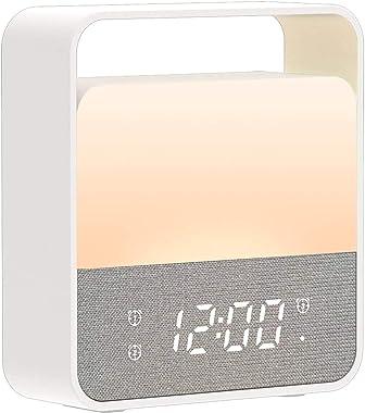 Veilleuse Enfant LED, Veilleuse Réveil Bébé USB Rechargeable Lampe Nuit 12 Couleurs RGB Lampe de Chevet Portable Veilleuse En