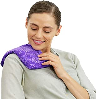 Nature Creation- Basic Herb Pack Heating Pad- Back Pain Relief - Hot and Cold Therapy (Purple Flowers)