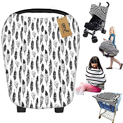 iZiv Ultrasoft 4-in-1 Mehrzweck-Baby Stretchy Abdeckung Auto Sitz Baldachin/Krankenpflege Abdeckung/Warenkorb Cover/Infinity Schal für Baby
