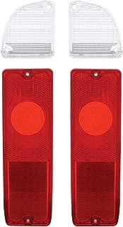 Pair 67-72 Chevy Truck Fleetside Tail Light & Reverse Back Lamp Lenses