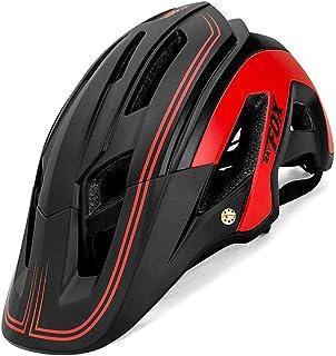 Thiningstars Casco de Bicicleta de Montaña, Ultraligero Transpirable Casco de Seguridad, Sombrero de Ciclismo, Moldeado Integral, Tamaño Ajustable, Profesional MTB Protector Solar Resistencia outgoing