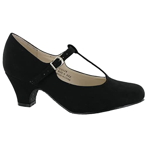 Womens Heavenly Soles T Bar Shoes Simply Be