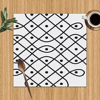 Rangoli Design Called Alpona Alpana Mehndi The Arts Religion Colour Print Placemats,Placemats,Placemats Dining Table,Heat-Resistant Placemats, Stain Resistant Washable Pvc Table Mats,Kitchen Table Mat