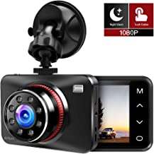 Dash Cam 1080P FHD Car DVR Driving Recorder with Infrared Night Vision,2.7