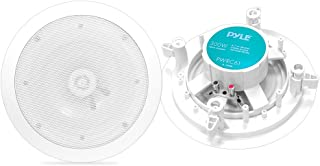Pyle Home PWRC61 6.5-Inch Weather Proof 2-Way in-Ceiling/in-Wall Stereo Speakers (Pair)
