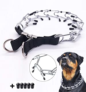 Pettycart Dog Prong Collar, Durable Stainless Steel Dog Pinch Training Collars for Medium Large Large Dogs