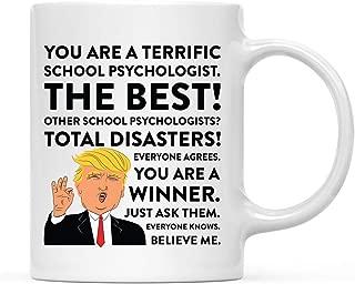 Andaz Press 11oz. Funny President Trump Coffee Mug Gag Gift, School Psychologist, 1-Pack, Includes Gift Box, Christmas Birthday Graduation Gift Ideas