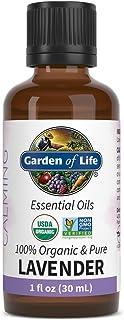 Garden of Life Essential Oil, Lavender 1 fl oz (30 mL), 100% USDA Organic & Pure, Clean, Undiluted & Non-GMO - for Diffuse...