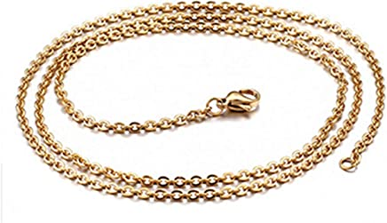 Epinki Stainless Steel Chain Necklace for Men Gold Rolo Chain Men Jewelry Chains Necklace