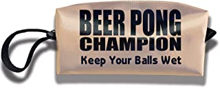 Coin Pouch Beer Pong Champion Pen Holder Clutch Wristlet Wallets Purse Portable Storage Case Cosmetic Bags Zipper