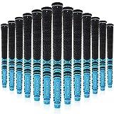 Crestgolf - Empuñaduras para palos de golf, juego 13 unidades de caucho combinado con carbono, en 3colores, hombre, azul