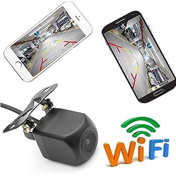 sans Fils Fonctionne sous Android /& iOS ITK Technology Aide au stationnement Cam/éra de recul WiFi sur Plaque dimmatriculation