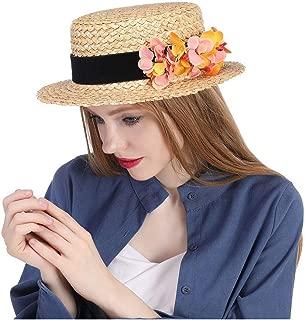Xiang Ye Boater hat. Straw hat. Flower boater hat. Spring hat. Summer hat. Wedding hat. Bridal hat. Flower fascinator. Tea party hat.