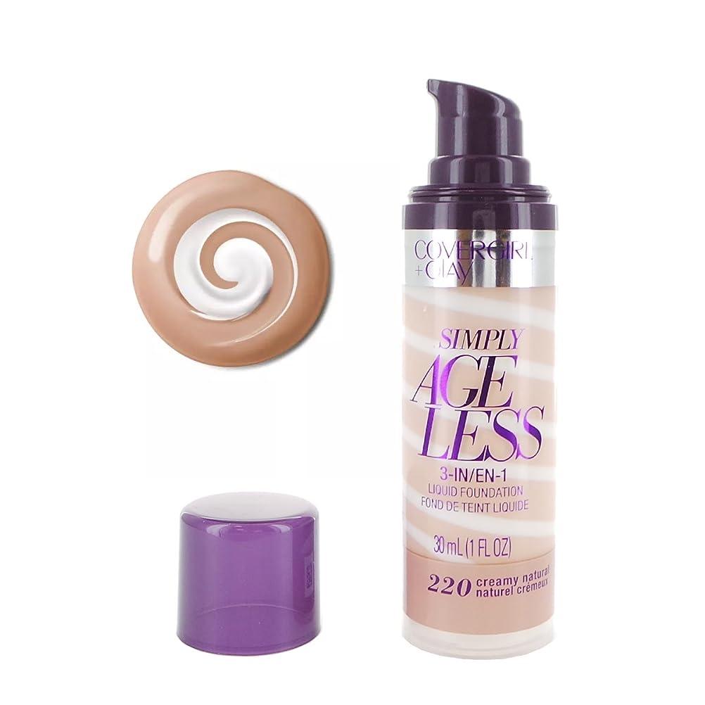 エピソード磁気ライン(3 Pack) COVERGIRL Simply Ageless 3-in-1 Liquid Foundation - Creamy Natural 220 (並行輸入品)