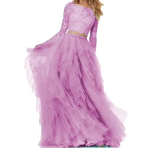 2 Piece Lilac Prom Dresses Amazoncom