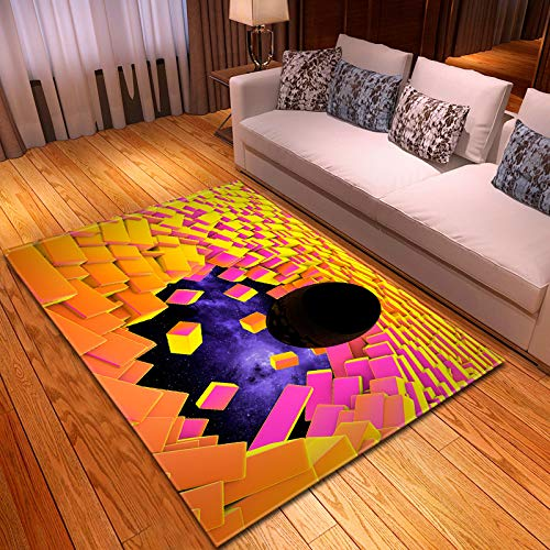 Kreative 3D Lego Gemusterte Wohnzimmer Teppich Schlafzimmer Bodenmatte Outdoor Pad Baby Crawl Matte 100x150Cm L0003