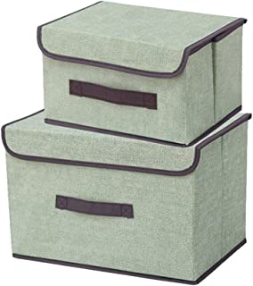 YLKCU Caisses de Rangement Boîte de Rangement en Tissu Non tissé avec couvercles Jouets ménagers Collations Divers Organis...