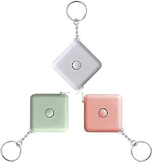 Retractable Keychain Measuring Mini Tape Travel Soft Tape Measure Portable Pocket Student Tape Measure 60-Inch&150CM 3 Pac...