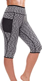 Women Sauna Weight Loss Slimming Neoprene Pants with Side Pocket Hot Thermo Fat Burning Sweat Capris Leggings