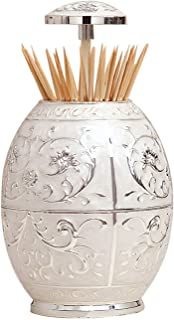VANTIYAUS Toothpick Holder, Jeweled Royal Vase Toothpick Holder for Medieval or Kitchen Table Decor Sculptures As Decorative Toothpick Case Gifts