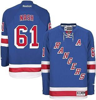 Reebok Men`s NHL New York Rangers Rick Nash Premier Jersey Blue/Red Size Medium
