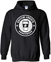 Caffeine Addicts Anonymous Hoodie in Black - Funny Coffee Lover Hoodie