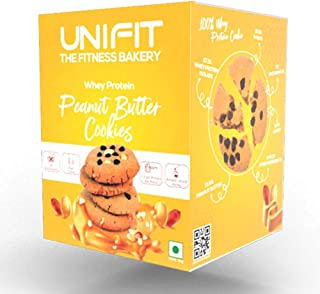 UNIFIT Whey Protein High Fibre Cookies- Pack of 6 Peanut Butter Cookies