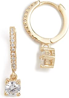 Shashi Women's Solitaire Pave Huggie Earrings