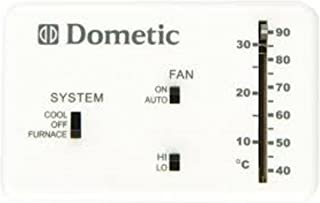 Dometic 3106995.032 RV Analog Thermostat (Cool Only/Furnace), White