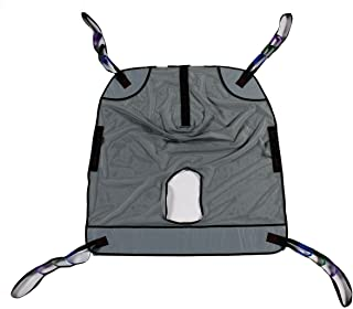 Bariatric Heavy Duty Full Body Mesh Commode Patient Lift Sling, 600lb Weight Capacity (Extra Large)