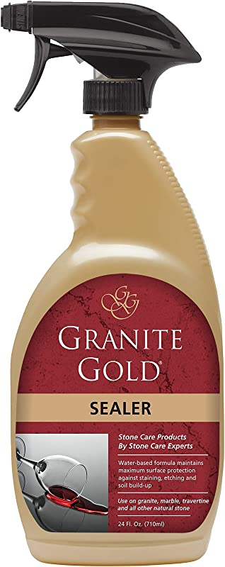 Granite Gold Sealer Spray Water Based Stone Sealing To Preserve And Protect Countertops 24 Ounces