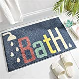 THRILRUG Bathroom Rug mat, Non-Slip Soft Microfiber Washable Water Absorbent Colourful Cute Bath...