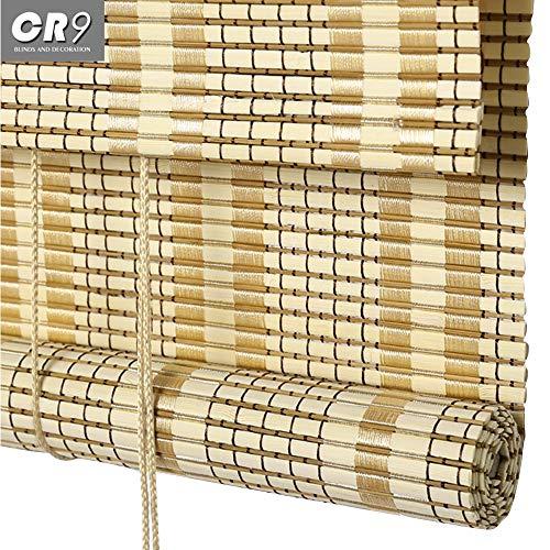 FUFU Bambus-Rollo 100% natürliches Bambusrollo, römischer Sonnenschutz für Haus, Trennwand, Teehaus, Restaurant, privater Club, Studio, Balkon, Langer Pavillon für Fenster und Türen