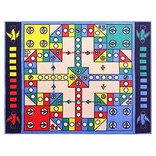 Hmy LRW Enfants Adultes Volant Chess Carpet Chambre Jeu Reptile Tapis Amour Appartement Cartoon Puzzle Jouet