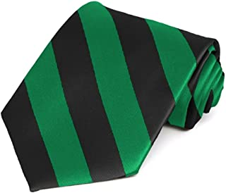 Kelly Green and Black Striped Tie