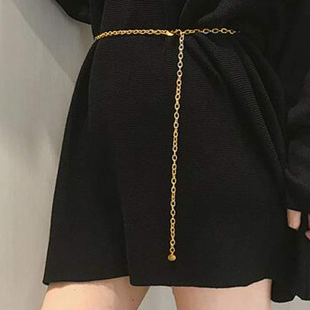 Chicque Gold Chain Belt Seqins Dangle Belly Chain Tassel Bikini Waist Chain Beach Body Jewelry for Women and Girls