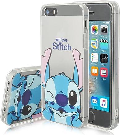 2923ba4bdcf Funda transparente de silicona con diseño de dibujos animados Disney  para Apple iPhone 5