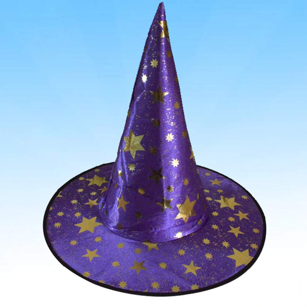 88AMZ Sombrero de Mago de Halloween Disfraz de Bruja Estrella ...
