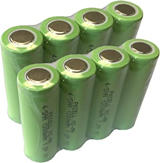 4/5AA Rechargeable Battery 1.2V 1300mAh NIMH Flat Top Battery Count :Pcs (8)
