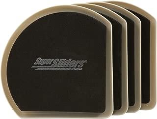SuperSliders 4734295N Reusable Slide and Hide Furniture Movers for Carpet- Square Edge for Walls & Corners- Stays Hidden Under Furniture, 7