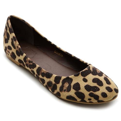 2eff55bcdc15 Ollio Womens Shoe Ballet Light Faux Suede Low Heels Flat