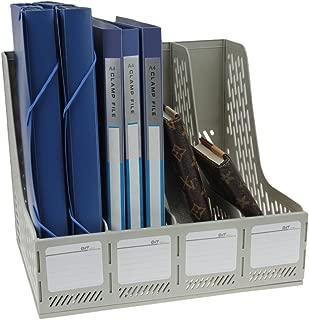 313MM Nero 2 ESPOSITORE PER di file in plastica Portariviste con 4/scomparti leggero cestino di file modulo di archiviazione trieur a soffietto file supporto piatto Stabile Ufficio 325 262
