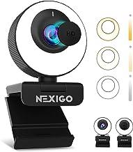 60FPS AutoFocus ePTZ Webcam, 2021 NexiGo N620E with 2X Digital Zoom, Ring Light & Privacy Cover, [Software Included], 1080...