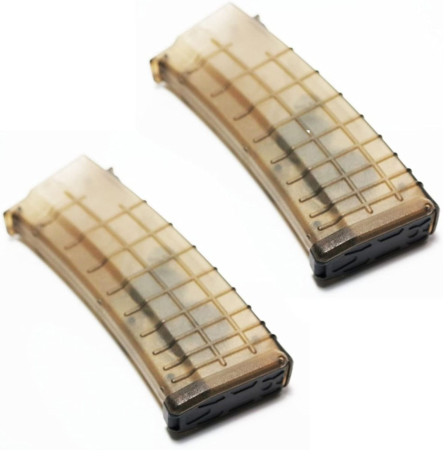Airsoft Gear Parts Accessories 2pcs Pack CYMA 360rd Flash Mag Waffle Magazine for AKSeries AEG Semi Transparent
