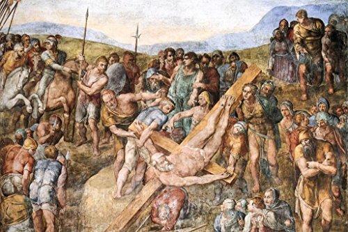 Michelangelo Crucifixion of Saint Peter Fine Art Cubicle Locker Mini Art Poster 8x12