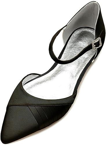 Duoai@ Grande, Calzado Plano Electro ms con una Sola Zapata  Vestidos de Novia zapatos Parte zapatos de Satén de Seda zapatos de Moda