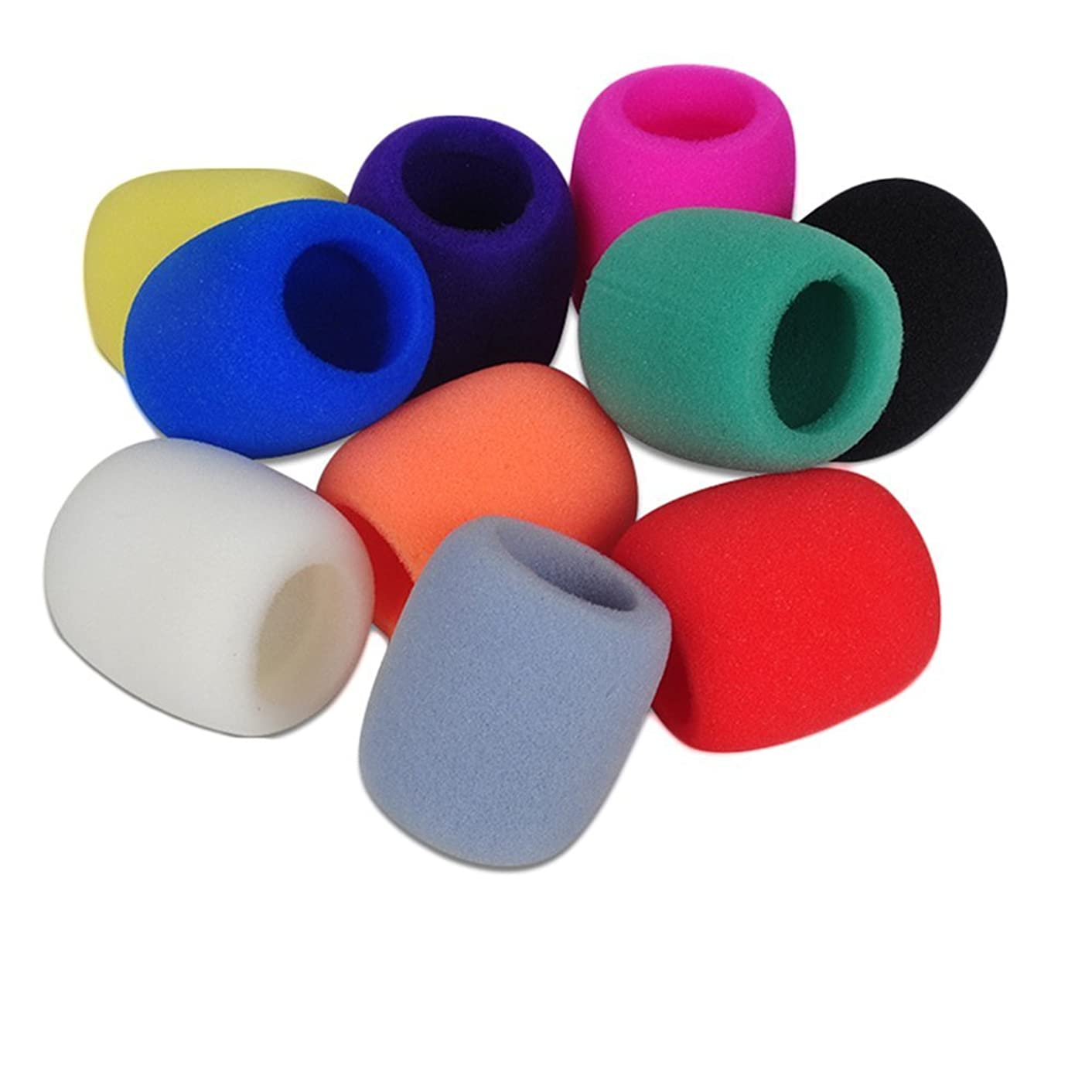Patty Both Handheld Stage Microphone Windscreen Foam Cover, 10 Color